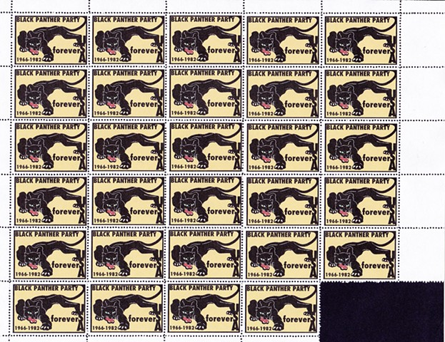 Black Panther Party Commemorative Sheet