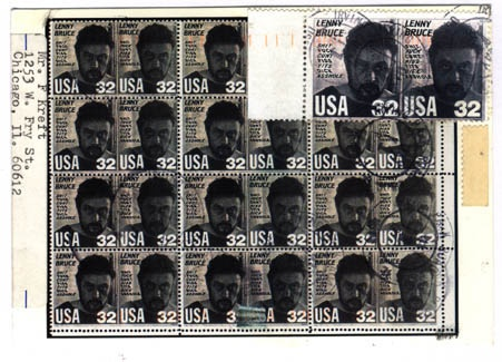 Lenny Bruce Stamp, Lenny Bruce image, Lenny Bruce and curse words
