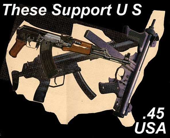 Gun Support, NRA, Imaginary stamp supporting guns