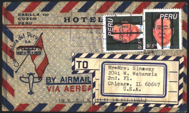 Alberto Fujimuri, fake Peruvian stamp, Michael Thompson fake stanps