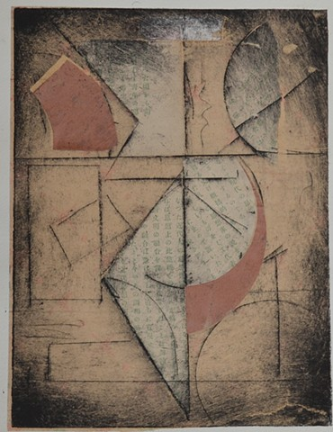 monoprint, etching, chine-colle