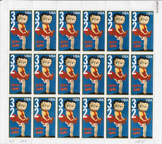 michael thompson stamps, michael thompson fake stamps, fake stamps, Betty Boop, Boobs on postage stamps
