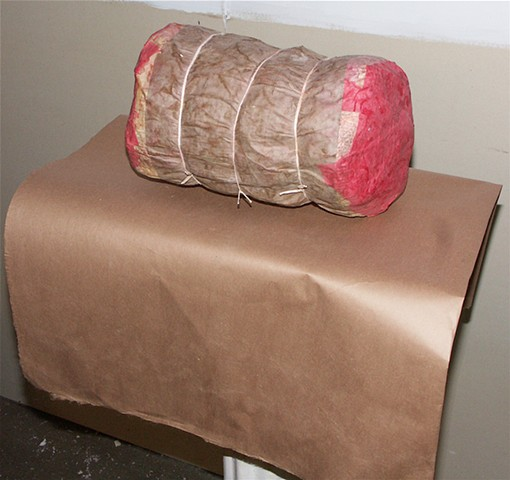 fake food, food sculpture, meat sculpture, styrofoam sculpture, michael thompson artist chicago