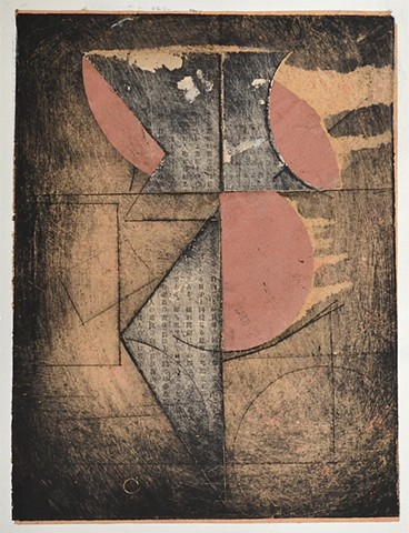 monoprint, etching, chine-colle, michael thompson