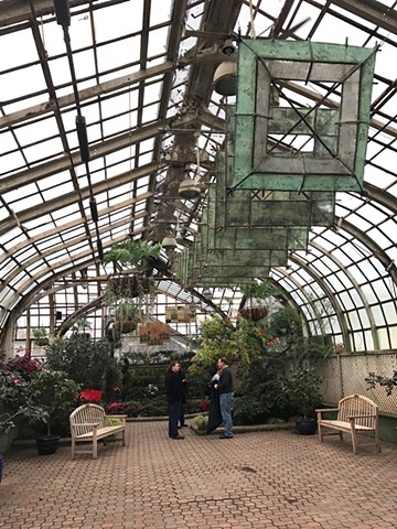 """Spring Rising"", Lincoln Park Conservatory, Chicago, suspended art, suspended kite"
