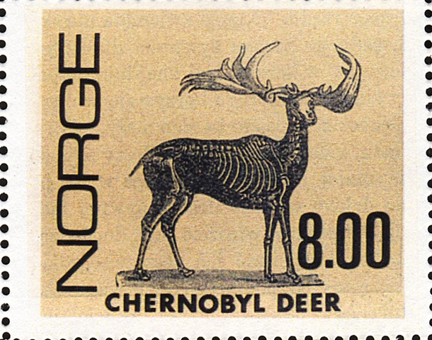 Chernobyl, Nuclear fallout, Norwegian stamps, Chernobyl stamps, fake stamps, michael thompson artist