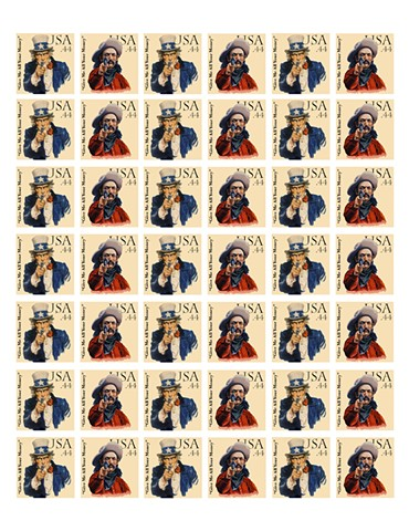 Fake Postage Stamp, Political Art, Illegal Art