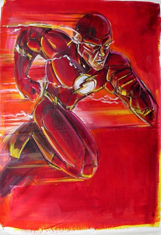 Flash (Charlotte Winter Comicon 2014 Commission