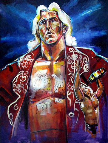 """Nature boy"" Autographed by Ric Flair"