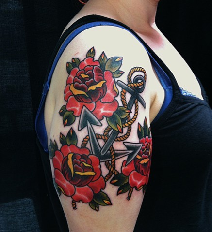 Anchor and Roses