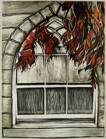 Window #3 Red leaves