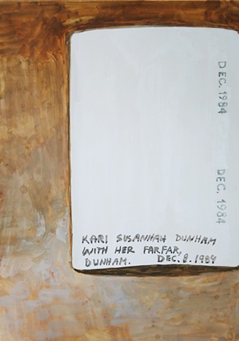 Kari Dunham, 40 Days Forty Sacraments, Day 14, gouache painting photograph