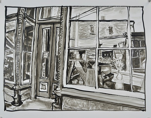 Reflections Drawings of Mineral Point by Clyde Paton