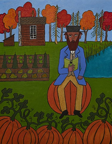 Thoreau Sitting on a Pumpkin