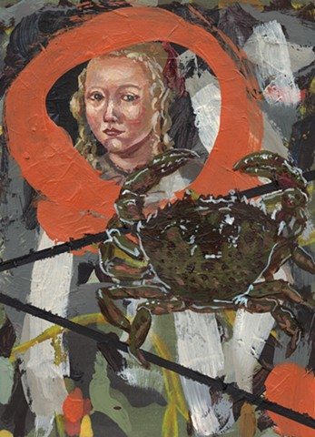 Gibbs Portrait with Green Crab, Richard Moninski