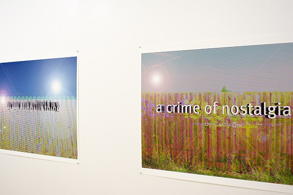 Prints installed in the Philip J. Steele Gallery at the Rocky Mountain College of Art and Design