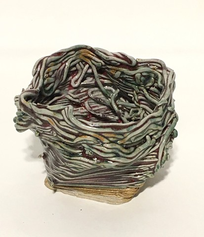 3d Printed, Holly Holmes, #3d ceramic clay 2017 sculpture nest