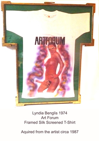 Lynda Benglis 1974 ARTFOURM T-SHIRT Framed by the Artist