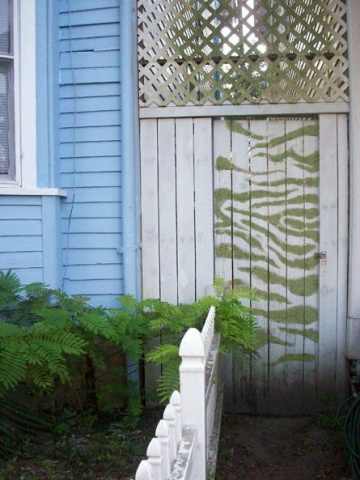 Moss Graffiti | Garden Door