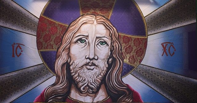 Jesus Christ icon painting