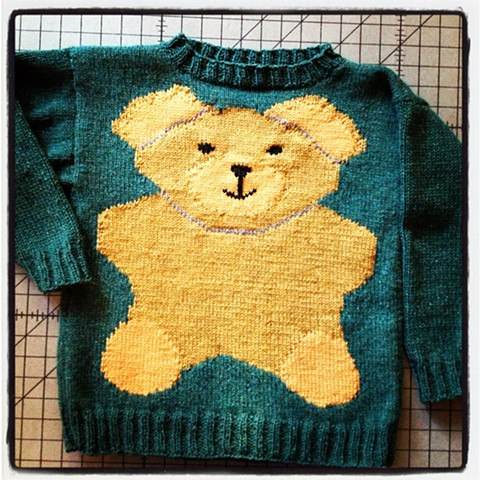 Child's intarsia knit sweater