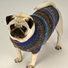 Custom Knit Wool Dog Sweater, 16 inch length