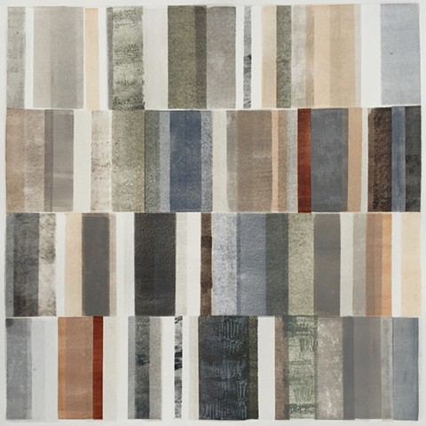 monotype, neutral colors, vertical grid, abstract