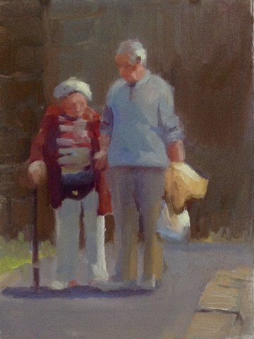 Plein Air oil sketch by Lauren Andreach.