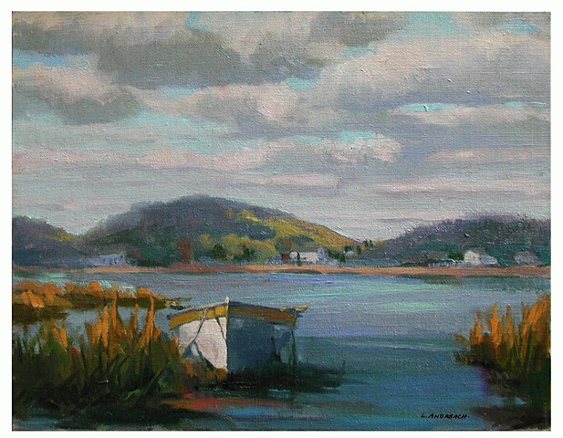Plein Air Sketch in oils by Lauren Andreach.