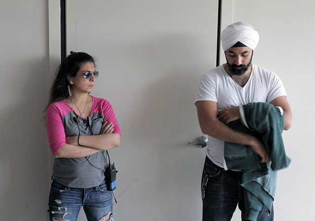 Zarmeen Ali (2nd AD) & Manvir Singh (Happy)