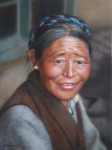Portrait of Tibetan Woman