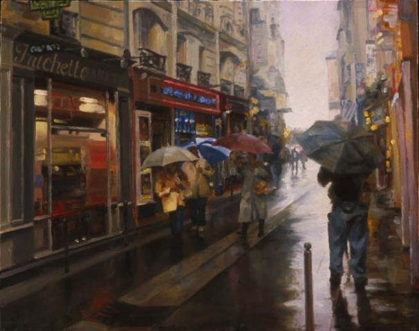 A Wet Afternoon in the Latin Quarter