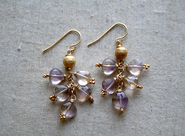 Ametrine Cluster Earrings