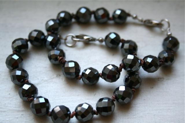 Malachite knot bracelet