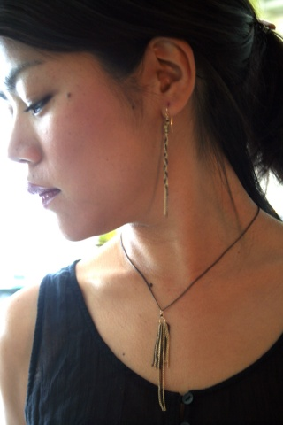 Michi wearing the Art Deco Necklace