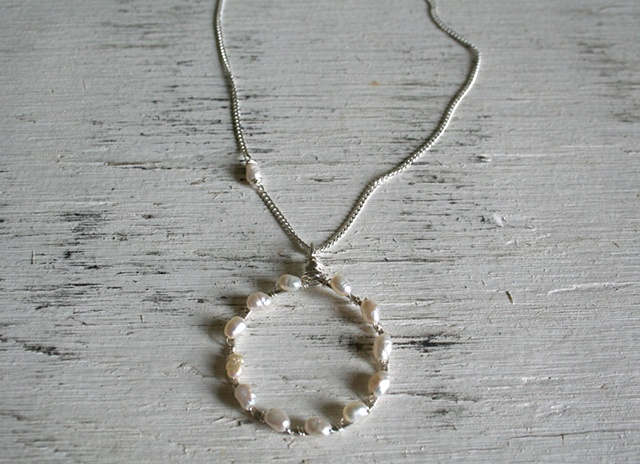 Silver Laurel Necklace