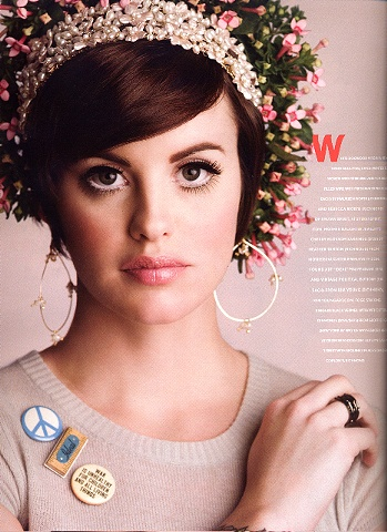 Model Wearing the Cherry Blossom Earrings in the April issue of Virginia Living