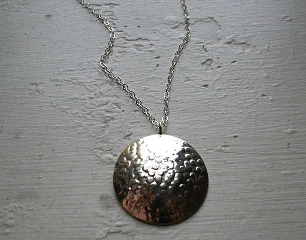 Sterling Full Moon Necklace