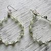 Serena earrings with prehnite beads