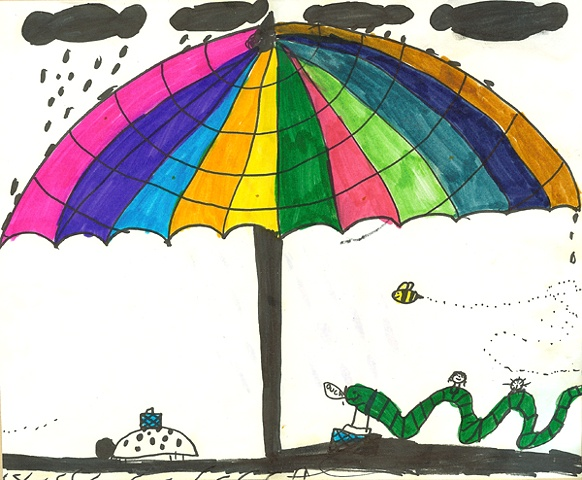 Mr. Worm's Rainbow Umbrella