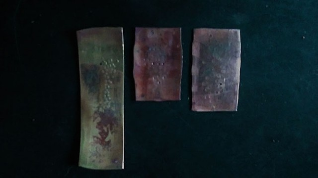 Surface experiments on brass and copper