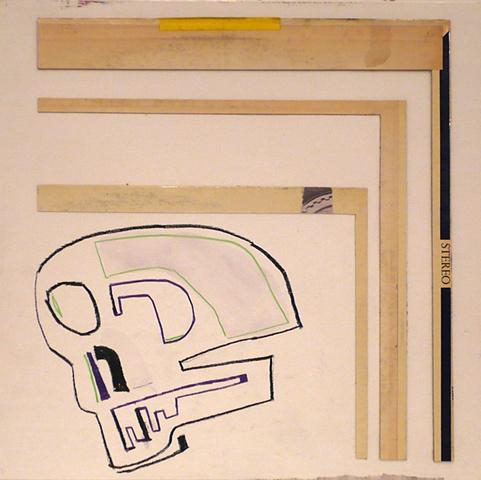 LP Collage Skull