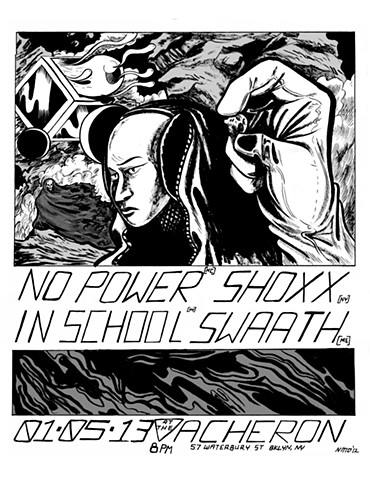 Shoxx // No Power Gig Poster 2013