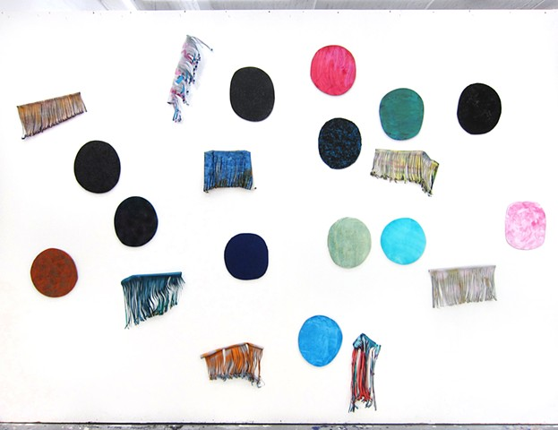 Circles and Wigs, Studio Installation