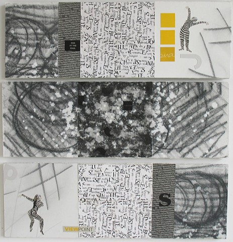 View Point, 2004. Paper and graphite on drywall.
