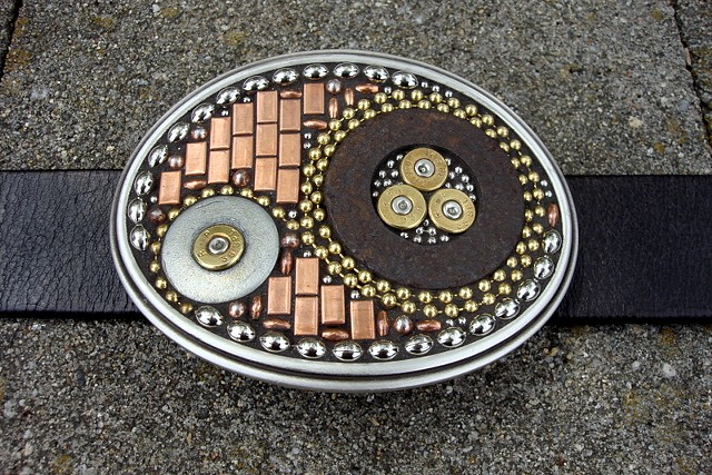 GRAVITY-Mosaic belt buckle