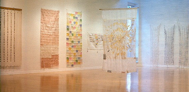 Textile Diaries, installation view, College of Wooster Art Museum
