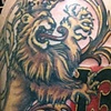 doubletailed lion with maltese crosses and 13