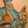 thompson&#39;s gazelle with california poppies