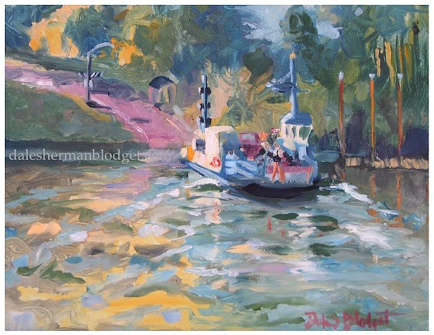 Candy Ferry Oregon River painting